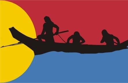 Flag of the Confederated Tribes of Oregon Clatsop-Nehelem