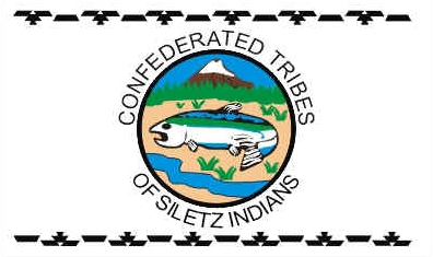 Flag of the Confederated Tribes of Siletz Indians
