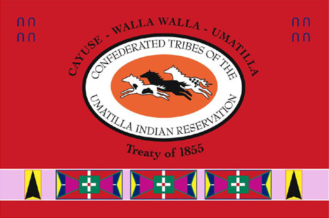 Flag of the Confederated Tribes of the Umatilla Indian Reservation