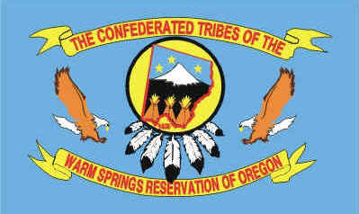 Flag of the Confederated Tribes of Warm Springs